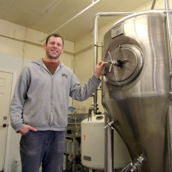 Tim Gallon with new fermenter